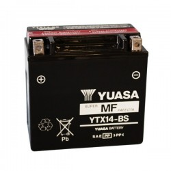 BATTERY YUASA YTX14-BS WITHOUT MAINTENANCE WITH ACID TO KIT FOR GILERA GP 800 2007/2013