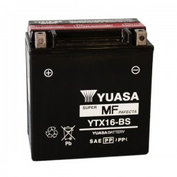 BATTERY YUASA YTX16-BS WITHOUT MAINTENANCE WITH ACID TO KIT FOR TRIUMPH TIGER 800 2011/2014