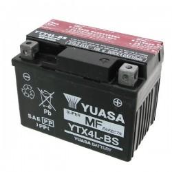 BATTERIA YUASA YTX4L-BS SENZA MANUTENZIONE CON ACIDO A CORREDO PER KTM EXC 250 2T 2008/2011