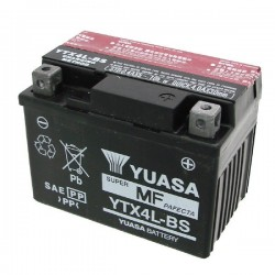 BATTERY YUASA YTX4L-BS WITHOUT MAINTENANCE WITH ACID TO KIT FOR KTM EXC 300 2T 2008/2011