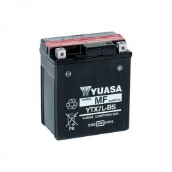 BATTERY YUASA YTX7L-BS WITHOUT MAINTENANCE WITH ACID SUPPLIED FOR HONDA CBF 600 2004/2007