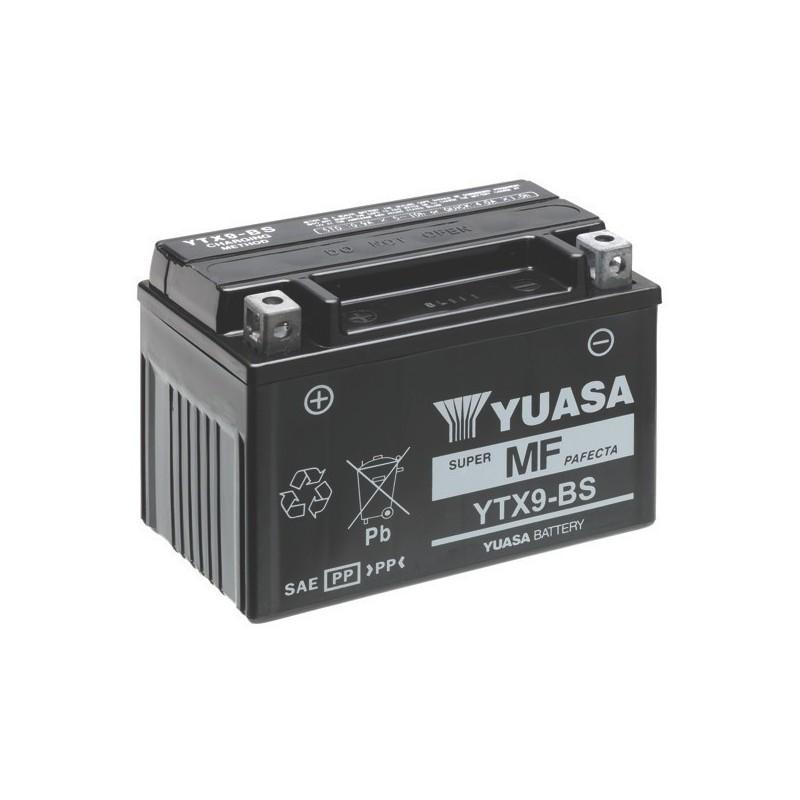 BATTERIA YUASA YTX9-BS SENZA MANUTENZIONE CON ACIDO A CORREDO PER KAWASAKI Z 1000 SX 2017/2019
