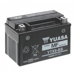 BATTERIA YUASA YTX9-BS SENZA MANUTENZIONE CON ACIDO A CORREDO PER KAWASAKI ZX-6R 636 2002