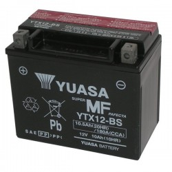 YUASA YTX12-BS BATTERY WITHOUT MAINTENANCE WITH ACID SUPPLIED FOR TRIUMPH THRUXTON 1200 R 2016/2019