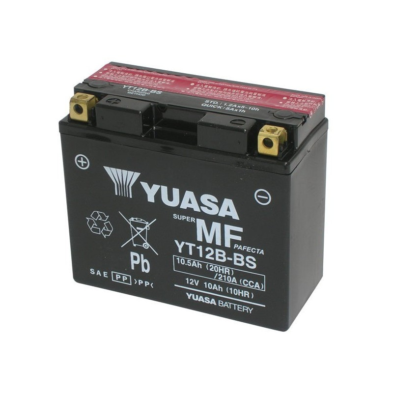 YUASA YT12B-BS BATTERY WITHOUT MAINTENANCE WITH ACID SUPPLIED FOR DUCATI SCRAMBLER 1100 2018/2019