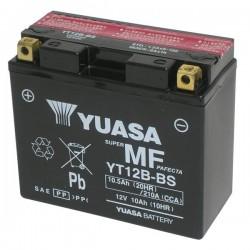 BATTERIA YUASA YT12B-BS SENZA MANUTENZIONE CON ACIDO A CORREDO PER DUCATI SCRAMBLER FULL THROTTLE 800 2015/2018