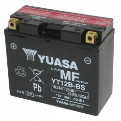 BATTERIA YUASA YT12B-BS SENZA MANUTENZIONE CON ACIDO A CORREDO PERDUCATI SCRAMBLER FULL THROTTLE 800 2015/2018