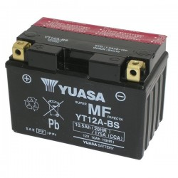 BATTERY YUASA YT12A-BS WITHOUT MAINTENANCE WITH ACID TO KIT PERAPRILIA THUNDER V4 1100 FACTORY 2015/2016