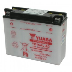 BATTERY YUASA YB16AL-A2 FOR DUCATI MONSTER 600 1995/1997