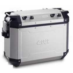 PAIR OF GIVI TREKKER OUTBACK MONOKEY SIDE CASES CAPACITY 37 LITERS, WITH ALUMINUM STRUCTURE