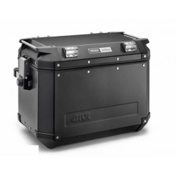 PAIR OF GIVI TREKKER OUTBACK BLACK LINE MONOKEY SIDE CASES CAPACITY 48 LITERS, WITH ALUMINUM STRUCTURE