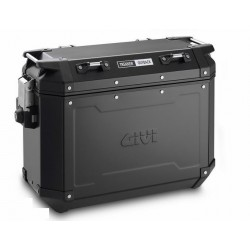 PAIR OF GIVI TREKKER OUTBACK BLACK LINE 48/37 LITER MONOKEY SIDE CASES, WITH ALUMINUM STRUCTURE