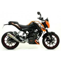 EXHAUST TERMINAL ARROW PRO-RACE STEEL CUP STEEL CATALYTIC CONNECTION FOR KTM DUKE 125 2011/2016, APPROVED