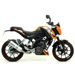 EXHAUST PIPE ARROW THUNDER ALUMINUM CARBON CUP CATALYTIC CONNECTION FOR KTM DUKE 125 2011/2016, APPROVED