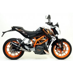 ARROW THUNDER EXHAUST SILENCER IN DARK ALUMINUM CARBON BASE FOR KTM 390 DUKE 2013/2016, APPROVED