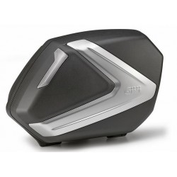 PAIR OF SIDE CASES MONOKEY SIDE GIVI V37NT CAPACITY 37 LITERS, BLACK COLOR SILVER COVER