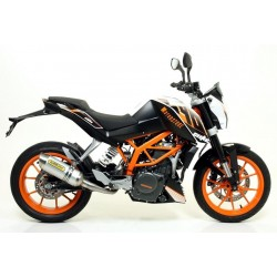 ARROW THUNDER EXHAUST TERMINAL IN ALUMINUM STEEL CUP CATALYTIC CONNECTION FOR KTM 390 DUKE 2013/2016, APPROVED