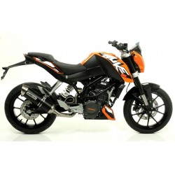 ARROW THUNDER ALUMINUM DARK EXHAUST PIPE STEEL CUP CATALYTIC CONNECTION FOR KTM DUKE 200 2011/2016, APPROVED
