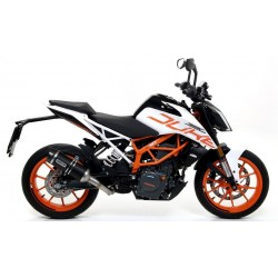 ARROW THUNDER EXHAUST SILENCER IN DARK ALUMINUM CARBON BASE FOR KTM 390 DUKE 2017/2020, APPROVED