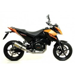 COMPLETE EXHAUST SYSTEM WITH RACE-TECH ARROW TITANIUM TERMINAL WITH CARBON BASE FOR KTM DUKE 690 R 2010/2011