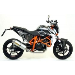 COMPLETE CATALYTIC EXHAUST ARROW ALUMINUM RACE-TECH FOR KTM DUKE 690 R 2012/2015, APPROVED