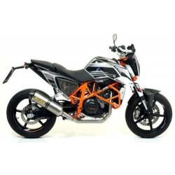 ARROW RACE-TECH COMPLETE CATALYTIC EXHAUST SYSTEM IN ALUMINUM CARBON BASE FOR KTM DUKE 690 R 2012/2015, APPROVED