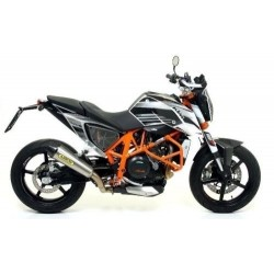 EXHAUST TERMINAL X-KONE ARROW IN TITANIUM WITH CARBON BASE FOR KTM DUKE 690 R 2012/2015, APPROVED