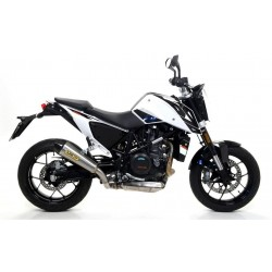 ARROW X-KONE COMPLETE CATALYTIC EXHAUST SYSTEM IN STEEL CARBON CUP FOR KTM DUKE 690 R 2016/2017, APPROVED