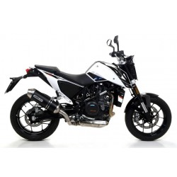ARROW RACE-TECH CATALYTIC EXHAUST SYSTEM IN DARK ALUMINUM STEEL CUP FOR KTM DUKE 690 R 2016/2017, APPROVED