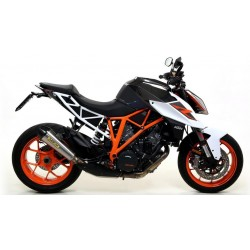 EXHAUST TERMINAL ARROW X-KONE IN STEEL WITH CARBON BASE FOR KTM 1290 SUPER DUKE R 2017/2019, APPROVED