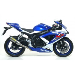 TITANIUM THUNDER ARROW EXHAUST PIPE WITH CARBON BASE FOR SUZUKI GSX-R 750 2008/2010, APPROVED