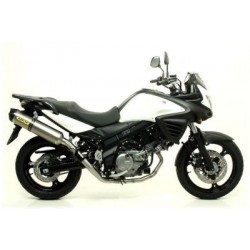 COMPLETE CATALYTIC EXHAUST SYSTEM ARROW RACE-TECH IN TITANIUM FOR SUZUKI V-STROM 650 2004/2016, APPROVED