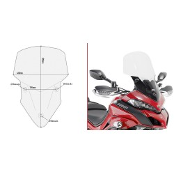 WINDSHIELD GIVI FOR DUCATI MULTISTRADA 1260/S 2018/2020, TRANSPARENT