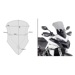WINDSHIELD GIVI FOR DUCATI MULTISTRADA 1260/S 2018/2020, SMOKE