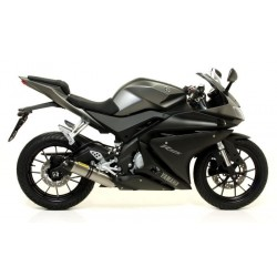 ARROW THUNDER CATALYTIC COMPLETE EXHAUST SYSTEM IN TITANIUM CARBON CUP FOR YAMAHA YZF-R 125 2014/2016*