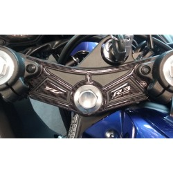 3D STICKER PROTECTION STEERING PLATE FOR YAMAHA YZF-R3 CARBON