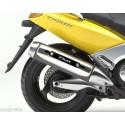 ADESIVO 3D PROTEZIONE CARTER TERMINALE SCARICO PER YAMAHA T-MAX 500 2001/2007 CARBON BIANCO