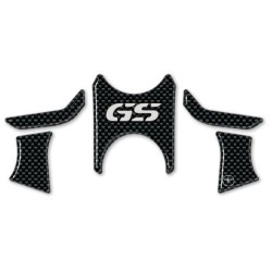 3D STICKERS STEERING PLATE PROTECTORS BMW R 1200 GS ADVENTURE 2008/2012 CARBON