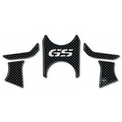 3D STICKERS STEERING PLATE PROTECTORS BMW R 1200 GS 2008/2012 CARBON