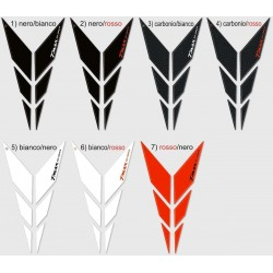 3D STICKERS PROTECTIONS Y FRONT FOR YAMAHA T-MAX 530 2015/2016 WHITE RED