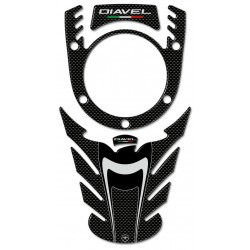 3D STICKERS TANK PROTECTION AND KEY LOCK FOR DUCATI DIAVEL