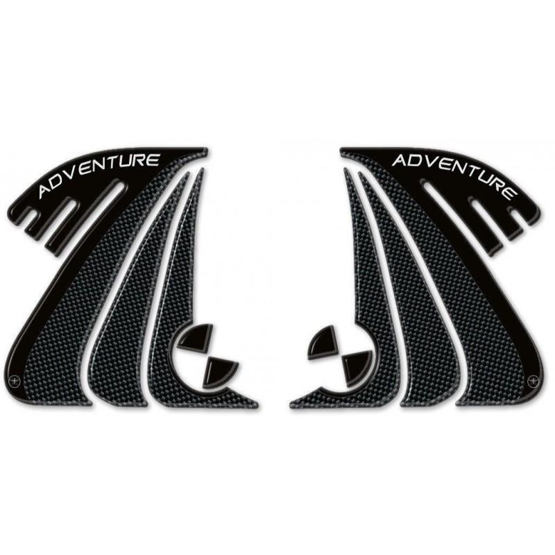 ADESIVI 3D PROTEZIONI LATERALI SERBATOIO PER BMW R 1200 GS 2013/2017, R 1200 GS ADVENTURE 2014/2018