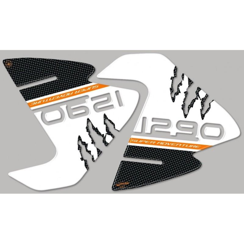 ADESIVI 3D PROTEZIONI LATERALI SERBATOIO PER KTM SUPER ADVENTURE 1290