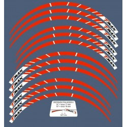 """BORDO ADESIVO PER CERCHI RUOTA YAMAHA T-MAX 500 2001/2007 ANNIVERSARIO 14"""" E 15"""""""