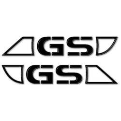 PAIR OF TANK STICKERS FOR BMW GS CM 30 X 5 BLACK