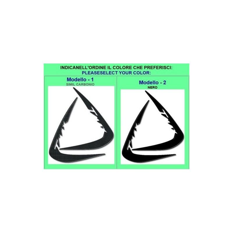ADESIVI 3D PROTEZIONI LATERALI SPIGOLI ANTERIORI PER YAMAHA T-MAX 500 2001/2007 CARBON