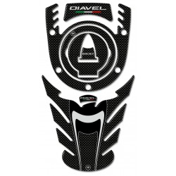 3D STICKERS TANK PROTECTORS, CAP AND KEY BLOCK FOR DIAVEL DUCHY