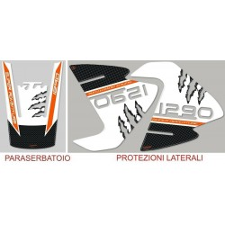 3D STICKERS KIT SIDE PROTECTION AND TANK FOR KTM SUPER ADVENTURE 1290