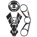 3D STICKERS TANK PROTECTORS, CAP, STEERING PLATE BMW S 1000 RR 2009/2011 CARBON
