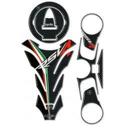 3D STICKERS TANK PROTECTION, CAP, STEERING PLATE FOR APRILIA RSV4